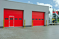 Промышленные секционные ворота Алютех, фото 1