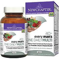 """New Chapter, Ежедневные мультивитамины """"Для каждого мужчины"""" 40+, 96 таблеток"""
