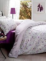 Постельное белье Storway сатин Floraldream V2 лила двухспальный евро размера