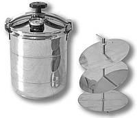 Автоклав кассетный бытовой Бинго Мини на 8 банок, нержавеющая сталь (касетний побутовий автоклав)