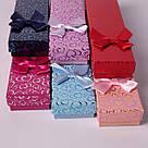 Подарочная коробочка под браслет или цепочку Сердечки с бантом фуксия 20,5*4,5*2 см, фото 5