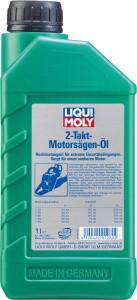Минеральное моторное масло для 2-тактных бензопил и газонокосилок Liqui Moly 2-Takt-Motorsagen-Oil 1л