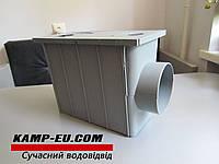 Дождеприемник с боковым выходом 110мм, серый, фото 1
