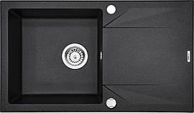 Мийка 1-камерна з полицею Deante EVORA, графітовий граніт, 780х440х180 мм