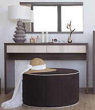 Зеркало и туалетный столик для макияжа темный орех