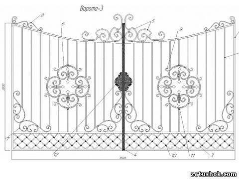 Ворота ковані тип 3