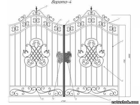 Ворота ковані тип 4