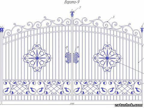 Ворота ковані тип 9