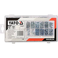 Набор метизов гайки, шурупы, винты, шайбы набор 347 шт YATO YT-06771