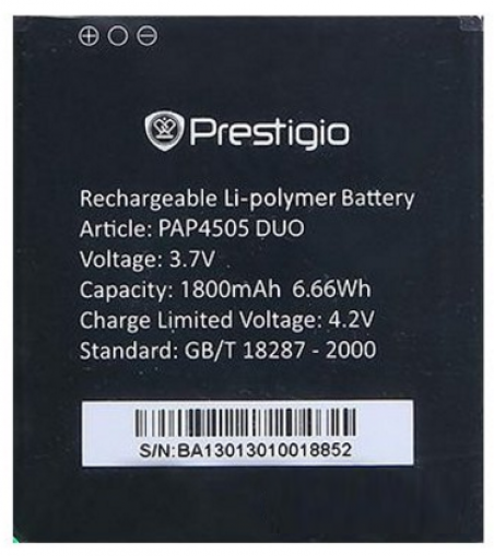 Аккумулятор на Prestigio PAP4505 Duo MultiPhone, 2000 mAh Оригинал