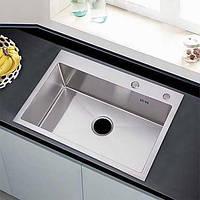 23,6-Дюймовый ручной верхний крепеж с одной капельницей в кухонной мойке из нержавеющей стали 16 калибра 05702729