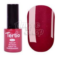 Гель-лак Tertio №091 (темно-красный, микроблеск), 10 мл