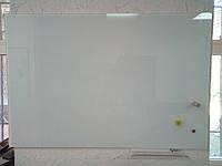 Белая стеклянная магнитная маркерная доска 90х120