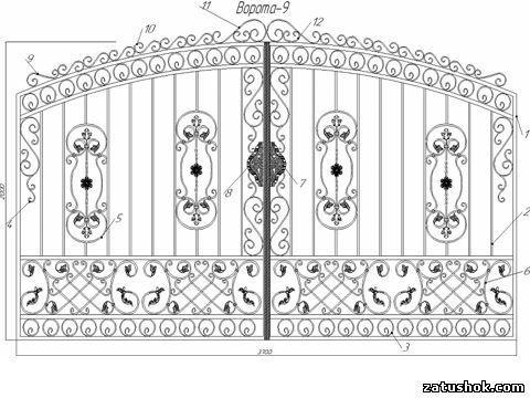 Ворота ковані тип 9а
