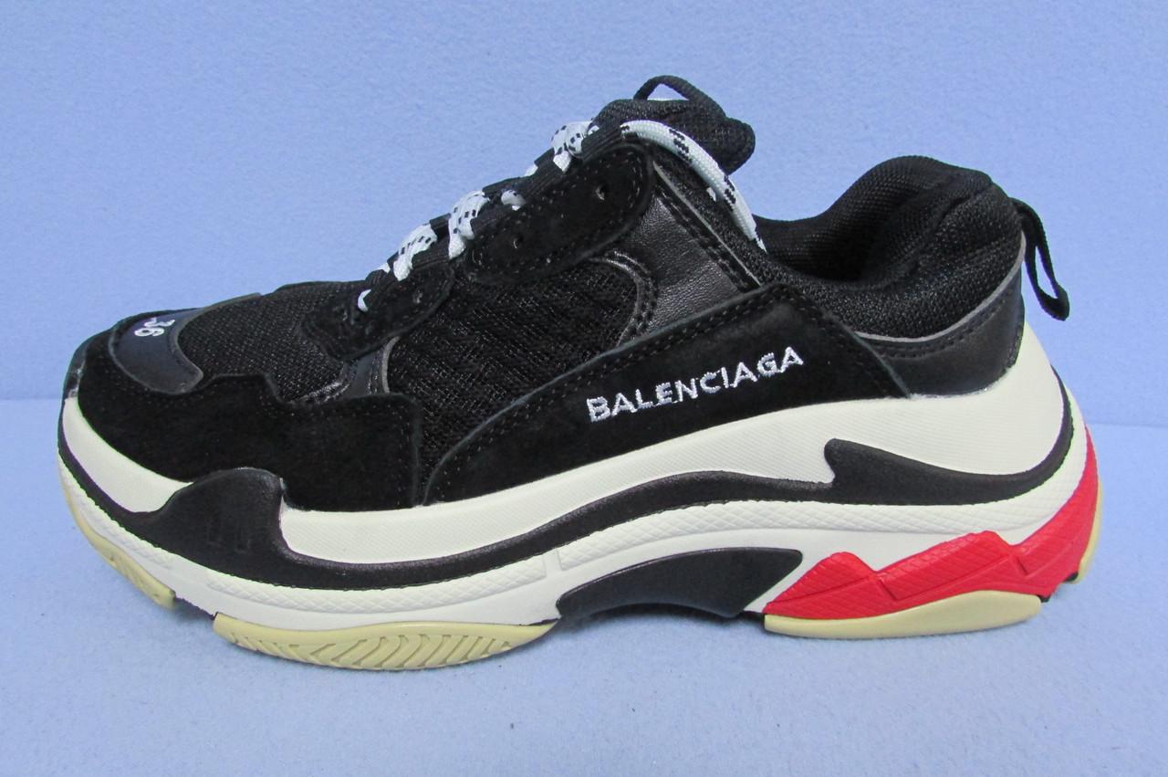 кроссовки женские Balenciaga реплика 12286 черные код 2287а