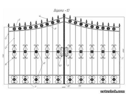 Ворота ковані тип 10
