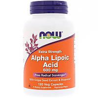 Альфа-липоевая кислота, Now Foods, 600 мг, 120 кап., фото 1