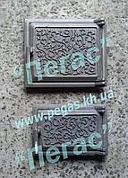 Дверки чугунные печные (комплект №1) грубу, барбекю, фото 1