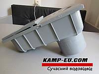 Дождеприемник с нижним выходом, серый, 110мм, фото 1