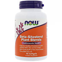 Фитостеролы, Beta-Sitosterol, Now Foods, 90 капсул