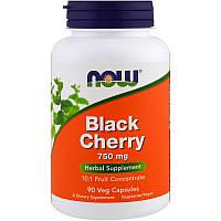Экстракт дикой вишни, Now Foods (Black Cherry), 750мг, 90 капсул