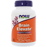 Витамины для улучшения работы мозга, Brain Elevate, 120 вегетарианских капсул, Now Foods