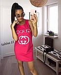 """Женское летнее повседневное платье с прорезями на спине """"Gucci"""" (3 цвета), фото 2"""