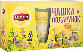 Чай черный Lipton Набор с чашкой 4*25*2 гр.