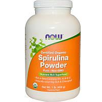 Спирулина, Spirulina, Now Foods, 454 г