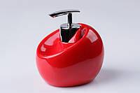 Дозатор для жидкого мыла настольный Нора красный, фото 1