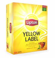 Чай черный Lipton Yellow Label, 100 пак.
