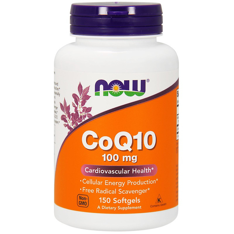 Коэнзим Q10 (CoQ10), Now Foods, 100 мг, 150 капсул