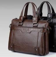 Кожаная мужская сумка Polo Videng Vintage в двух цветах ! Большая Коричневый a4c69b656c7