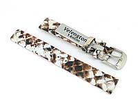 Ремешок для часов Velengton VTN03BR02-14 14 мм Бело-коричневый