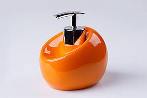 Дозатор для жидкого мыла настольный Нора оранжевый