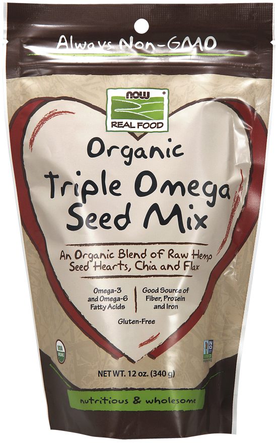 Now Triple Omega Seed Mix 340g