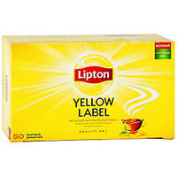 Чай черный Lipton Yellow Label, 50 пак.