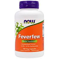 Пиретрум девичий (Пижма), Feverfew, Now Foods, 100 капсул