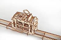 """Детский динамический конструктор 3d пазл из дерева - """"Трамвайчик"""" , фото 1"""