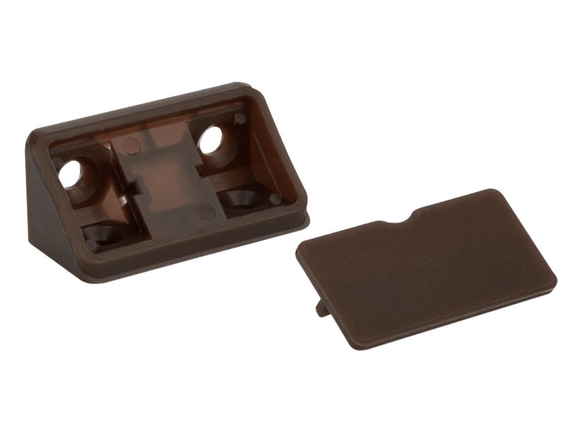 Куточок монтажний  подвійний  пластик темно-коричневий