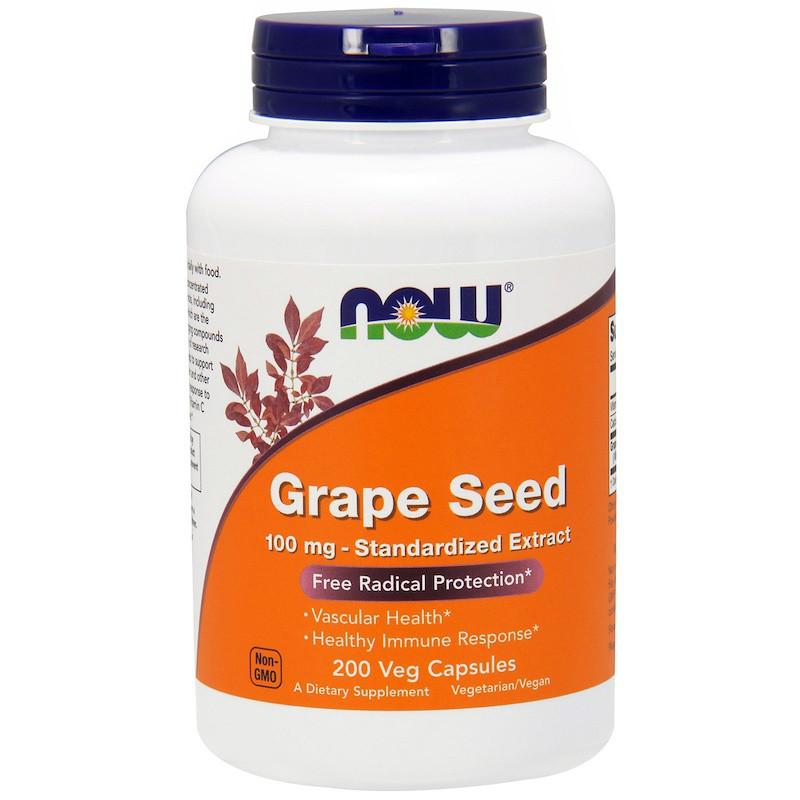 Экстракт виноградных косточек (Grape Seed), Now Foods, 200 кап.