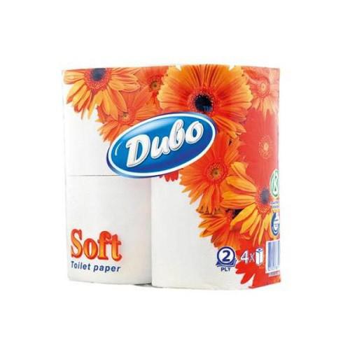 """Туалетная бумага на гильзе двухслойная, белая """"Диво Soft"""" (4шт)"""