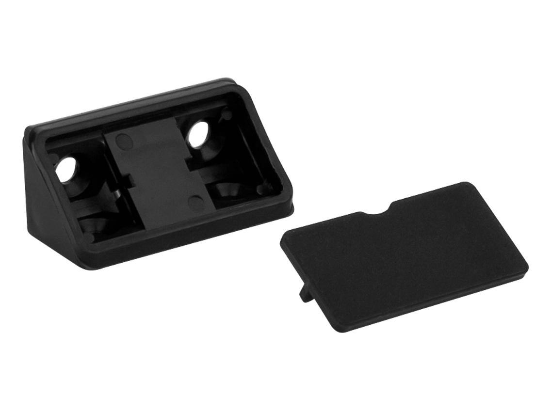 Куточок монтажний  подвійний  пластик чорний