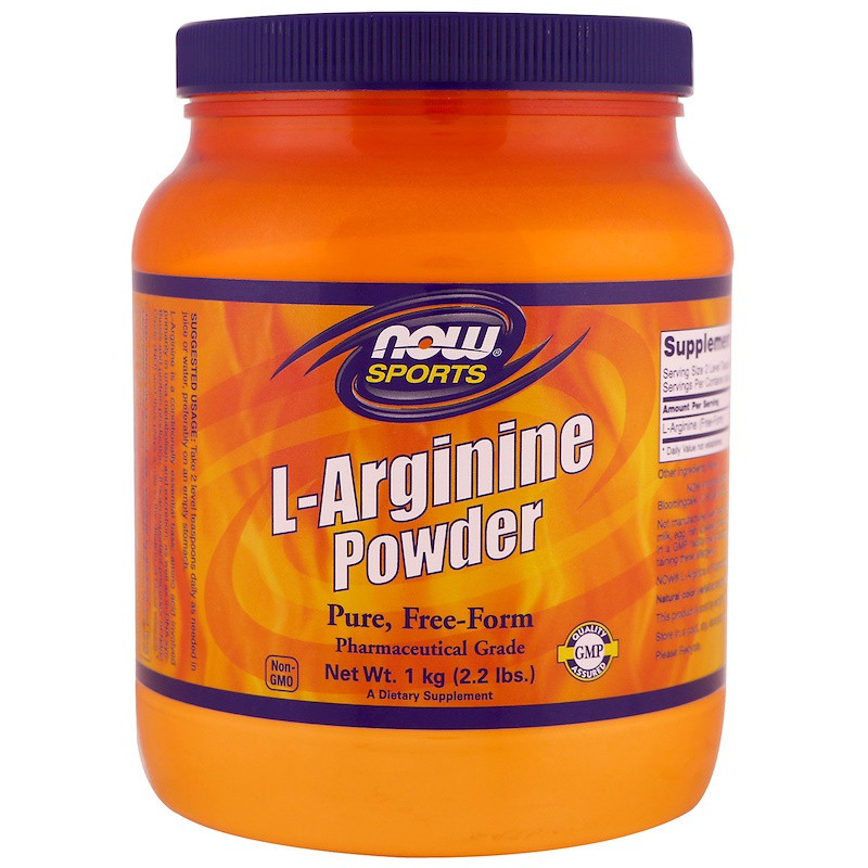 L-аргинин (спорт), L-Arginine Powder, Now Foods, 1 кг