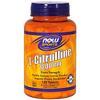 L-цитруллин, L-Citrulline, Now Foods, 1200 мг, 120 таблеток
