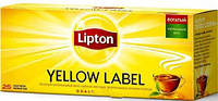 Чай Lipton Yellow Label чорний, 25 пак.