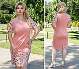 Модное женское платье Цветы в размерах 50-56, фото 3