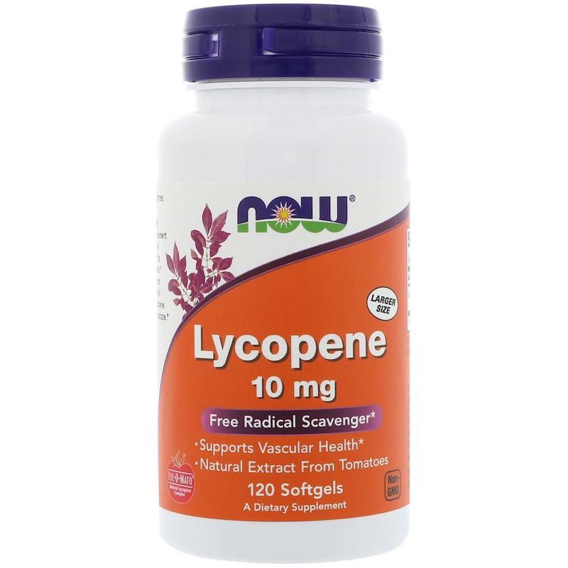 Ликопин, Lycopene, Now Foods, 120 капсул