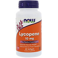 Ликопин (Lycopene), Now Foods, 10 мг, 60 гелевых капсул, фото 1