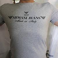 Футболка мужская серая бренд